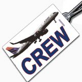 Delta Airlines 757 Crew Tag